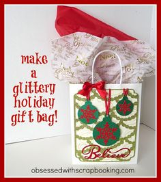 [Video]CTMH Artbooking Glittery Christmas Gift Bag
