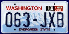 Washington. Our jeep still has WA plates :)