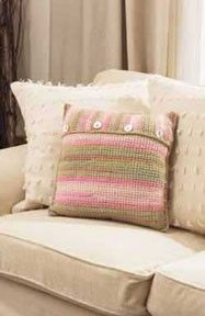 Follow this free crochet pattern to create a felted pillow using Patons SWS worsted weight yarn.