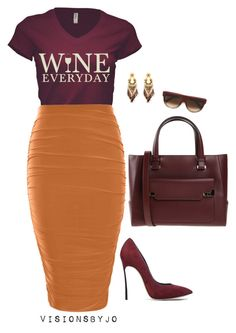 """""""Untitled #1348"""" by visionsbyjo on Polyvore featuring Boohoo, Gas Bijoux, Casadei, Lancel, CÉLINE, women's clothing, women's fashion, women, female and woman"""