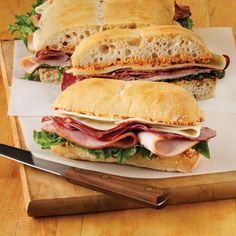 Italian Picnic Sandwiches Recipe from Land O'Lakes