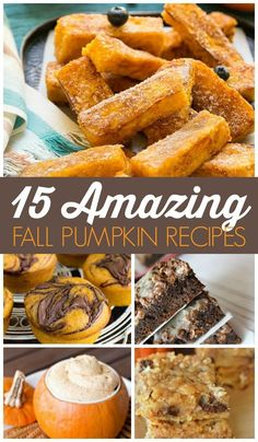 15 Amazing Fall Pumpkin Recipes is part of Cold Pumpkin dessert - 15 Amazing Fall Pumpkin Recipes! I am SO excited for all things fall, pumpkin, and cold weather! These treats, snacks, and desserts are sure to be a favorite! Fall Dessert Recipes, Fall Desserts, Holiday Recipes, Snack Recipes, Cooking Recipes, Recipes Dinner, Paleo Fall Recipes, Healthy Recipes, Oreo Dessert