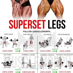 Super Set your way to SUPER LEGS with this workoutLIKE IT, SAVE IT and FOLLOW @musclemorph_ for more exercise & nutrition tips TAG A GYM BUDDY . ✳Enhance your progress with @musclemorph_ supps by clicking the link in our bio @musclemorph_ ➡MuscleMorphSupps.com #MuscleMorph