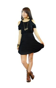 Black Swan Dress | The Fuss Boutique | WaterColor, FL - I've been thinking about a new lbd, and this is perfectly casual for my wardrobe.  Too cute!!