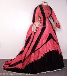 1869 Promenade dress