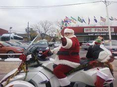 houston, texas: biker santa