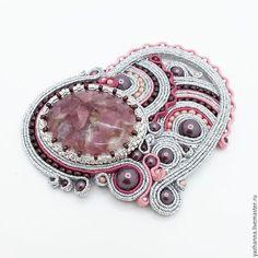 """Броши ручной работы. Ярмарка Мастеров - ручная работа. Купить Сутажная брошь """"Сердце"""". Handmade. Розовый, брошь, купить брошь"""