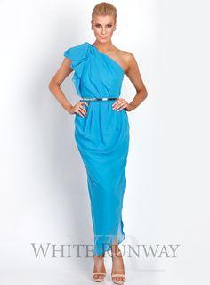 Azure blue bridesmaid dresses