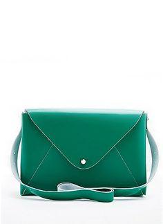 envelope bag green | little white lies