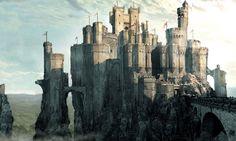 Prince Caspian Concept Art: Miraz Castle Fantasy castle Fantasy landscape Fantasy city