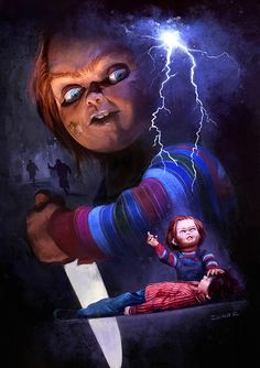 """Child's Play"" poster for the '30 Years Later' show at Gallery 1988 in Los Angeles USA. #chucky #childsplay #horrormovie #80movies #popculture #gallery1988 #muñeco #diabolico"