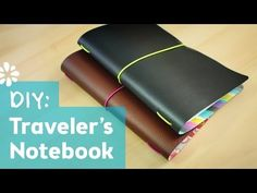 Would be great for groups or keeping multiple journals together How to Make a Traveler's Notebook - YouTube