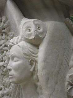 Wise woman, The Owl as her gardian, her who sees through the dark.