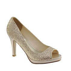 Coloriffics Maya Ivory Matte Satin Bridal Shoes NIB w//Rhinestone Detail OpenToe