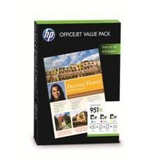 MULTIPACK TINTA HP 951XL CR712AE COLOR+PAPEL