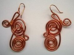 Copper earring---TRJ