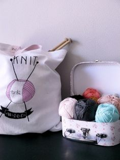 """Tote bag """"Knit to be wild"""""""