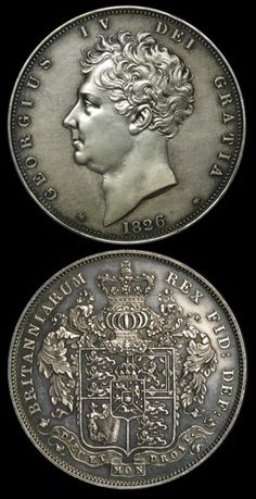 George IV English Crown coin of 1826.