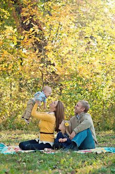photography, family, fall, family pose