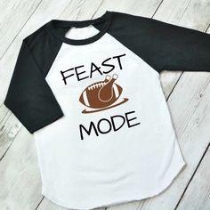 Thanksgiving shirt, Feast Mode shirt, Thanksgiving raglan, thanksgiving shirt for boys, turkey raglan, kid thanksgiving by ShopHartandSoul on Etsy https://www.etsy.com/listing/484936679/thanksgiving-shirt-feast-mode-shirt
