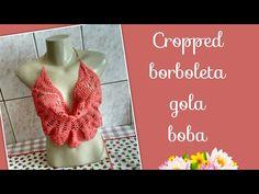 Versão destros: Cropped Borboleta gola boba em crochê (1° parte) # Elisa Crochê - YouTube