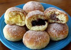 Paczki are Polish filled doughnuts and they're usually fried, but my healthy ones are oven-baked & filled with jam or custard. They are amazing! My recipe is posted at: www.JennyCanCook.com