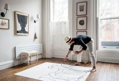 Brooklyn artist Wayne Pate has partnered with. Studio Four NYC on a playful, painterly collection of wallpaper and linen. The second collection is just out. Fabric Wallpaper, Of Wallpaper, Brooklyn Brownstone, Interior Shutters, Pencil And Paper, Visual Comfort, Love Home, Papers Co, One Kings Lane