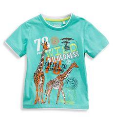 tshirt giraffen lichtblauw