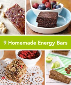 homemade energy bars. includes apricot cashew, chocolate, pb & J, and other tasty sounding ones. I want to try them all!