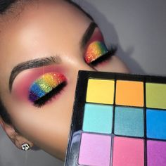 Nyx Brights Palette, Nyx Eyeshadow, Eyeshadows, Beauty Make Up, Hair Beauty, Crazy Eye Makeup, Brows, Lashes, Precisely My Brow Pencil