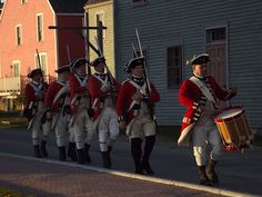 Loyalist re-enactors, Shelburne, Nova Scotia - The Canadian Maritimes was one of the major sites where Loyalists either fled or were evacuated to during and after the American Revolutionary War. So many people in the Canadian provinces of New Brunswick and Nova Scotia have Loyalist ancestry.