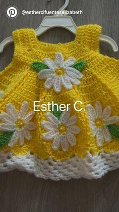 Crochet Baby Dress Free Pattern, Crochet Dress Girl, Knit Baby Dress, Baby Girl Crochet, Crochet Baby Shoes, Crochet Baby Clothes, Crochet Dresses, Baby Doll Clothes, Baby Dolls