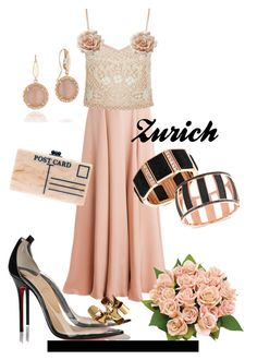 """""""Zurich"""" by rellenj ❤ liked on Polyvore featuring Roksanda, GUESS, Edie Parker, Topshop, Christian Louboutin, Accessorize and Tacori"""