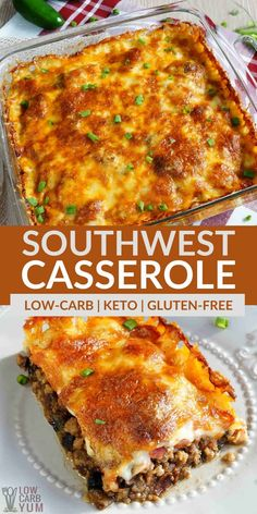 Healthy Ground Beef, Ground Beef Recipes Easy, Ground Chuck Recipes Dinners, Casseroles With Ground Beef, Mexican Ground Beef Casserole, Beef Casserole Recipes, Keto Casserole, Low Carb Recipes, Cooking Recipes