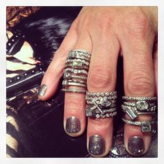 Getting excited for our visit with #barbaraheinrich Sept 12! #platinum #diamonds  #bling #stackemup #love #ringcandy #instalove #instafashion #me #bling #awesome #beautiful #want #style #girl #instamood @quadrumgallery @jewelry_maven