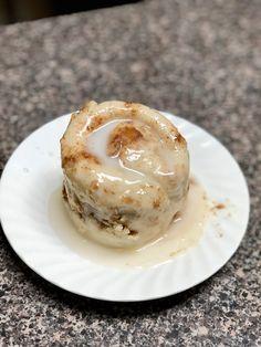 Cinnamon Roll in a Mug! The original recipe is vegan, so disregard my adaptation if you're wanting a vegan cinnamon roll.