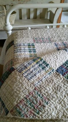 Love the classic look of a plaid quilt.