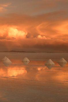 Sunset at Salt Flats — Uyuni, Bolivia