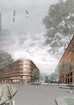 HafenCity Universität - Kahlfeldt Architekten Opera House, Louvre, Urban, Architecture Layout, Building, Travel, Layouts, Presentation, Collage