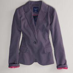 AE Boyfriend Blazer ($30) ❤ liked on Polyvore featuring outerwear, jackets, blazers, grey, grey boyfriend blazer, grey blazer, american eagle outfitters jacket, grey jacket and gray boyfriend blazer