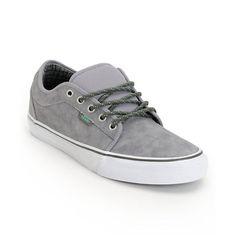 Vans Chukka Low Hiker Grey   Mint Suede Skate Shoes 876e353b1