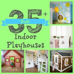 Great Indoor playhouse, nooks and loft bed Ideas for kids spaces! kids playhouse