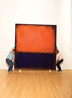 Don't drop the Rothko. I love the size and colors of this painting! #art