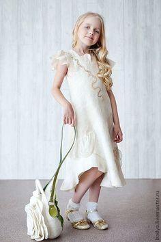 """Одежда для девочек, ручной работы. Ярмарка Мастеров - ручная работа. Купить Платье валяное """"Настенька"""". Handmade. Валяное платье, нунофелтинг"""