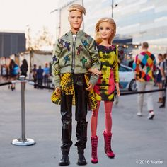 """Barbiestyle on Instagram. """"So honored to be styled by @itsjeremyscott for today's @moschino show! What do you think of our looks? ⚡#barbie #barbiestyle """""""