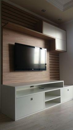 Тв стенка Tv Cabinet Design, Tv Wall Design, Tv Unit Design, Living Room Wall Units, Living Room Designs, Living Room Decor, Lcd Panel Design, Tv Unit Furniture, Pooja Room Door Design