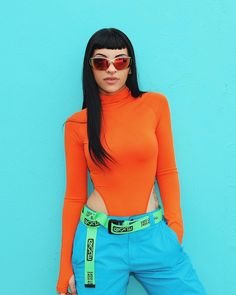 Miren lo hermosa q ess🤤 Neon Outfits, Dance Outfits, Summer Outfits, Rapper Outfits, Freestyle Rap, Girl Fashion, Fashion Outfits, Body Poses, Mode Streetwear