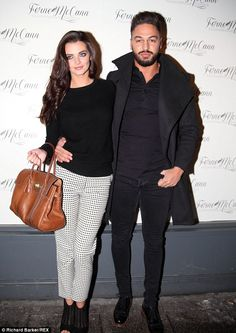 Standing up for his lady: Mario Falcone has defended his current girlfriend Emma McVey aga...