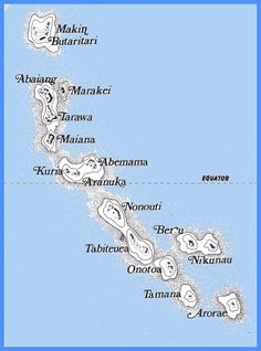 Kiribati Islands. Never knew this island chain existed as a country.