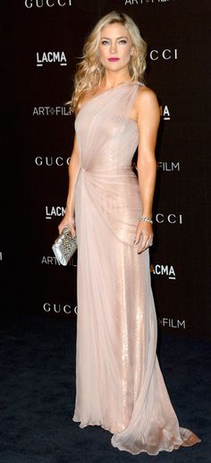 Kate Hudson wore a Gucci Première gown to attend the LACMA Art + Film Gala.